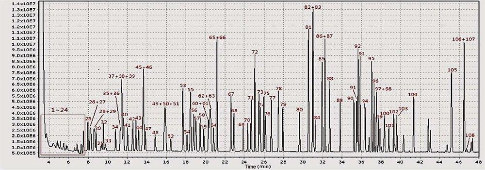 Nutech PCGC-TOF VOCs Online Analysis System Chromatogram